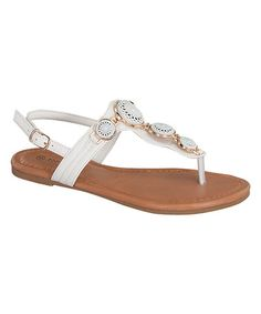 b1236de43ed6 Look at this  zulilyfind! White Charm Sandal by TOP MODA  zulilyfinds  Sandal