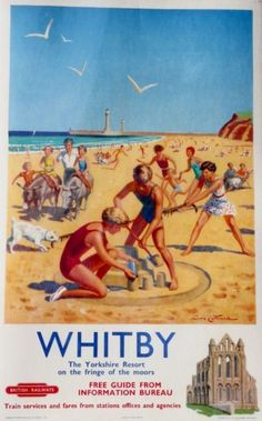 Whitby british Railways poster 1950s