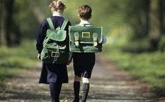 Off to school...