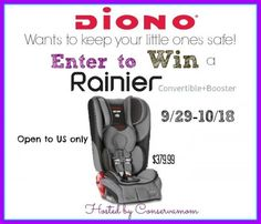 Diono Rainer Convertible to Booster Giveaway {US | Ends 10/18} - Pink Ninja Blogger