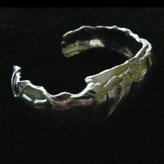 Sterling Silver Paper Mache Cuff from Fablesintheair.com