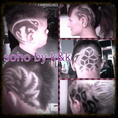 Men's hair #haircuts#fade haircuts #side part #short sides#hair style #hair color #slick back #men's hair trends# disconnected # undercut # pompadour # quaff # shaved # hard part#hair art# barber #razor# sohohair # soho by k&k # hair trend 2015# women # men# spiky# slick #hair tribal