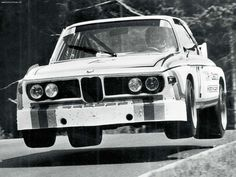 BMW 3.0 CSL - airborne. There are a couple spots at Spa and the Nurburgring that could do that...