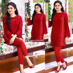 Red is a bold color that attracts attention, and the perfect red dress instantly makes a woman feel attractive and confident,latest collection of dresses in bright red color like, trending, bright red dresses for reception, dresses, and bright red semi formal dresses, Red formal dresses, red color combination dress Red Semi Formal Dress, Red Formal Dresses, Girls Party Dress, Girls Dresses, Party Dresses, Pakistani Dress Design, Pakistani Dresses, Red Color Combinations, Girl Outfits