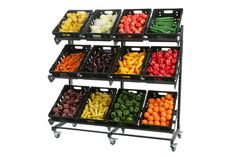 Single Sided Mobile Fruit & Veg Display 1600mm