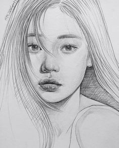 Drawing Pencil Portraits - Pıптегеѕт : ~leacгу~ Discover The Secrets Of Drawing Realistic Pencil Portraits Portrait Au Crayon, Pencil Portrait, Portrait Sketches, Drawing Sketches, Drawing Ideas, Cool Sketches, Sketching, Cool Drawings, Pencil Drawings