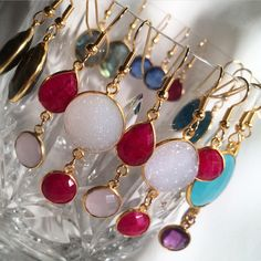 Rubies symbolize deep love &  passion.  Earrings by Irka Design.