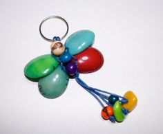Butterfly Tagua Keychain by IngridFonseca on Etsy, $12.00