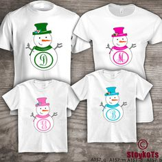 Personalized Christmas family t-shirts Mom Dad kids by StoykoTs