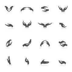 Illustrations, Hand Illustration, Free Vector Graphics, Free Vector Images, Spirit Tattoo, Hands Icon, Tiffany Art, Care Logo, Logo Design
