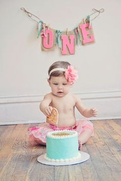 Baby Turns One! | Done Brilliantly @Ashley Berry  This is kinda what Kyra is gonna be wearing for the cake smash!