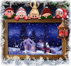 Photo from album Времена года. on View album on Yandex. Merry Christmas Gif, Christmas Scenes, Christmas Pictures, Christmas And New Year, Winter Christmas, All Things Christmas, Christmas Crafts, Christmas Decorations, Holiday