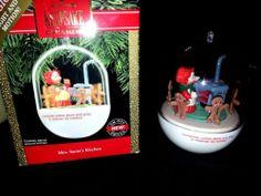 "Hallmark Keepsake Magic Light Motion 1990 ""Mrs Santa's Kitchen"" Ornament | eBay"