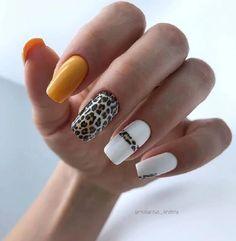 Cheetah Nail Designs, Cheetah Nails, Diy Nail Designs, Acrylic Nail Designs, Popular Nail Designs, Stylish Nails, Trendy Nails, Cute Acrylic Nails, Cute Nails
