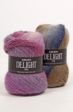 "DROPS Delight colour chart ~ DROPS Design dye set ""rainbow"" would make a stunning motif afghan! Thread Crochet, Knit Crochet, Drops Delight, Laine Drops, Yarn Inspiration, Fair Isle Pattern, Yarn Shop, Wool Yarn, Bracelet Patterns"