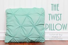 The Twist Pillow-- Free tutorial for a fun smocked throw pillow.