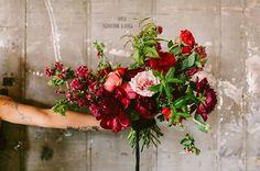 Goregous berry tone bouquet