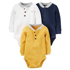 Carters Baby Boys MultiPack Bodysuits Assorted New Born -- Want additional info? Click on the image.