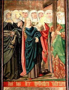 Bild: 9507407 (9507407.jpg). Motiv: Elisabet av Thüringen / Anna själv tredje / Helena m fl  (heliga änkor ). Foto: Lennart Karlsson