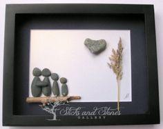 Family Christmas Gift-Pebble Art Family Gift by SticksnStone