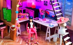 DIY Miraculous Ladybug Marinette's miniature doll room Miraculous Ladybug Queen Bee, Miraculous Ladybug Toys, Dollhouse Dolls, Miniature Dolls, Marinette Doll, Ladybug Room, Pokemon Flareon, Paw Patrol Birthday Cake, Magical Room
