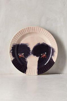 Gallus Dessert Plate - anthropologie.com. Polish chicken plate. DUH