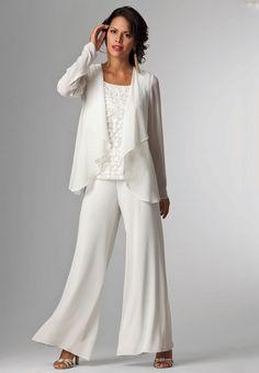 Cheap Roamans Plus Size 3 Piece Beaded Pant Suit Discount Review ...