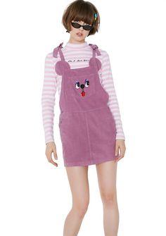 Lazy Oaf Bow Tie Bear Pinafore Dress