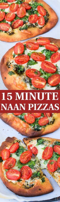 Quick Easy Dinner for Two | Naan Pizzas | Pesto Pizza Recipe | Naan Pizza Vegetarian | Quick and Easy Dinner Recipes | 15 Minute Meals