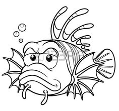 Fish Cartoon Images, Coloring Books, Coloring Pages, Fish Rocks, I Tattoo, Rooster, Stencils, Moose Art, Scrap