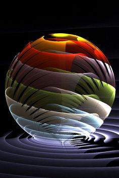 color spiral - paperweight