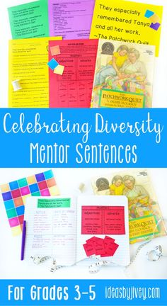 Mentor sentences are the perfect way to teach grammar and author's craft through examples of excellent sentences from your favorite read-aloud books! This bundle is just what you need to implement mentor sentences in your classroom with diverse books! Each of the 10 lessons includes the teacher sentence page, the student sentence page, a lesson plan page with possibilities for all 4 days, and a quiz aligned with CCSS with answer key. #mentortexts #mentorsentences #weneeddiversebooks