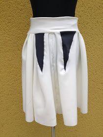 upper palatinate rocks: WOMEN 2014 pleated skirt white scuba jersey