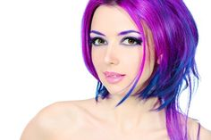 Pink and Blue Hair Highlights | Hottest Celebrity Hairstyles