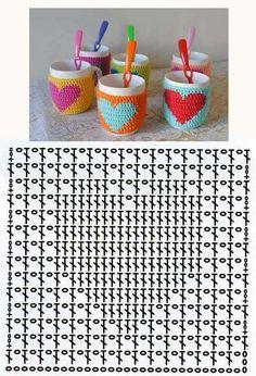Captivating Crochet a Bodycon Dress Top Ideas. Dazzling Crochet a Bodycon Dress Top Ideas. Crochet Motifs, Crochet Diagram, Crochet Chart, Crochet Basics, Crochet Squares, Crochet Granny, Crochet Stitches, Crochet Mug Cozy, Love Crochet