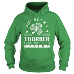 Kiss Me THURBER Last Name, Surname T-Shirt