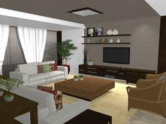 Projeto 3D - Casa de Praia - parte da proposta o cliente já tem e parte da proposta a gente busca dar a identidade do morador