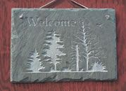 tree slate sign    The Stone Mill                                                                               More