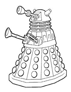 Free and printable 17 page Doctor Who coloring and activity book