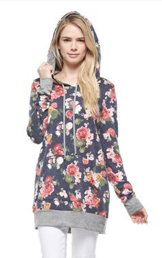 Floral Hoodie - only $26 + FREE shipping!