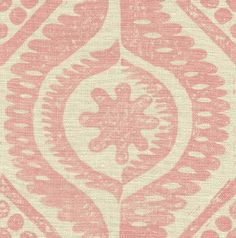 Damask in Pink from Lee Jofa (@Kravet) #fabric #linen #pink