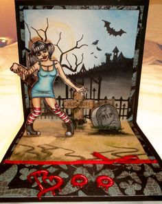 Very creative, Halloween Pop Up Card...