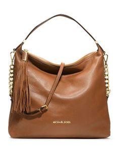 MICHAEL Michael Kors  Large Weston Pebbled Shoulder Bag. pretty good!!