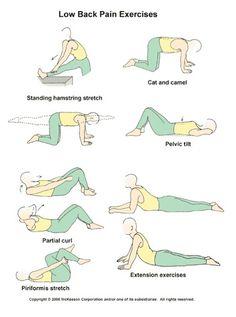 low back pain exercises patient handout