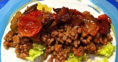 cocina casera, recetas ricas y faciles, Salsa Picante, Carne Picada, Beef, Fajitas, Food, Beef Strips, Caramelized Onions, Lettuce, Spice