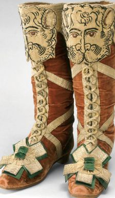 Wow--the detail! Boots worn by a herald at an 18th century coronation in Russia.