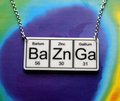 Barium Zinc Gallium {etsy awesomeness} - nice gift for geeky ladies