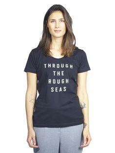 Makia Rough Seas T-shirt Rough Seas, V Neck, T Shirt, Tops, Women, Fashion, Moda, Tee Shirt, Fashion Styles