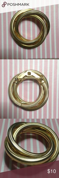 """1940 Love Eternity Gold Pin Great working vintage pin. Great condition.  Non smoking home.  1 1/2"""" long. Jewelry"""