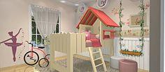 Cama para criança planejada estilo casinha de boneca